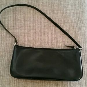 Kate Spade small patent black bag purse red lining
